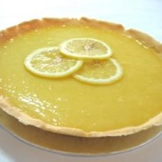 This tart and tangy lemon pudding or pie filling requires no eggs or dairy.  ---- edamam.com