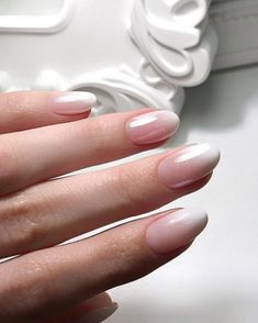 Likes, 9 Comments - Manicure / Nails / Masters ( . - Likes, 9 Comments – Manicure / Nails / Masters ( … – – - Pink Ombre Nails, Nude Nails, Nail Manicure, My Nails, Nail Polish, Ombre French Nails, Pink Oval Nails, Bridal Nails French, Oval Nail Art