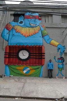 Arts: Street Art by Crânio - More at http://www.flickr.com/photos/cranioartes/ (Thx Robert)
