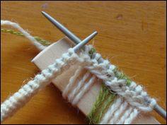 Cast on fringe tutorial -- Garn Boet - The Yarn Nest: The second Rosebud mitten is started, and FO Pomatomus socks.