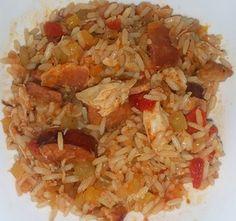 Chicken and Sausage Jambalaya Savoury Rice Recipe, Savory Rice, Rice Recipes, Chicken Recipes, Chicken And Sausage Jambalaya, Chicken Casserole, Summer Recipes, Casseroles, Food
