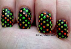 Disco Dots - easy/fast Halloween mani