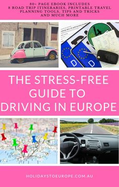 Take the hassle out of your European road trip with all my tips and tricks. Driving in Europe doesn't have to be stressful. With over a dozen European road trips behind me, I've compiled everything you need to know to make your driving holiday stress free Europe Travel Guide, Travel Guides, Travel Deals, Travel Hacks, Italy Travel, Travel Destinations, Travel Tips, European Road Trip, European Travel