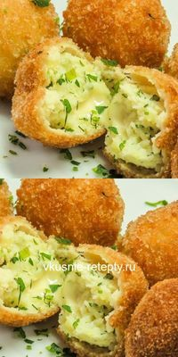Potato croquettes with cheese - palm .- Potato croquettes with cheese – palm …- Potato croquettes with cheese – palm … – food – - Asian Chicken Recipes, Luxury Food, Good Food, Yummy Food, Fast Dinners, Cooking Recipes, Healthy Recipes, Best Appetizers, Snacks