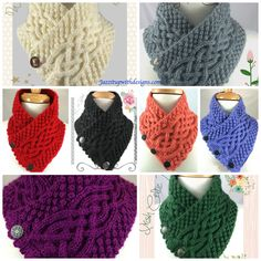 Irish Celtic Scarf Neck warmer in all colors Red is in stock and ready to ship! #cpromo