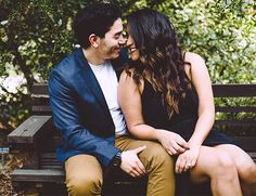 This duo is all smiles in their Trabuco Canyon engagement photos in Thomas F. Riley Wilderness park