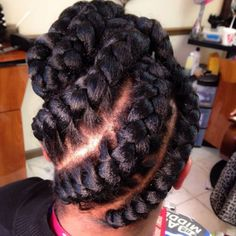 In addition to box braids and cornrows, goddess braids are some of the loveliest African American-inspired braided hairstyles. Box Braids Hairstyles, Cute Girls Hairstyles, Black Women Hairstyles, Updo Hairstyle, Natural Hairstyles, Short Hairstyles, Short Box Braids, Big Braids, Girls Braids