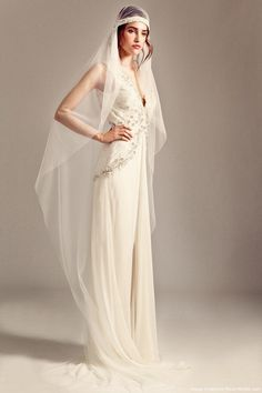 Temperley London Fluid Silk Deep V-neck Wedding Gown | Recent ...