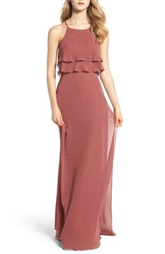 Jenny Yoo Charlie Ruffle Bodice Gown available at #Nordstrom