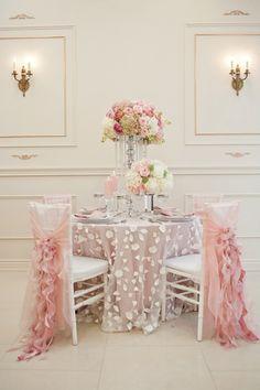 Shabby Chic Elegance, Dining Table Setting, Wedding Reception, Decor Ideas