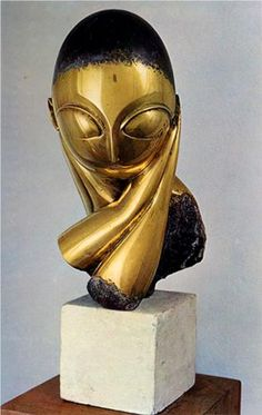 Page: Madamoiselle Pogany Artist: Constantin Brancusi Completion Date: 1913 Brancusi Sculpture, Bronze Sculpture, Rodin, Modern Sculpture, Sculpture Art, Organic Sculpture, Constantin Brancusi, Art Database, Oeuvre D'art
