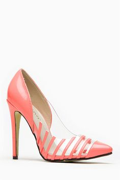 3af2d9fad17 Liliana Olga Coral atent Stripe Pointed Heel   Cicihot Heel Shoes online  store sales Stiletto Heel Shoes