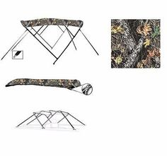 CAMO BOAT BIMINI TOP LARSON ESCAPE 213 O/B 2000-2002