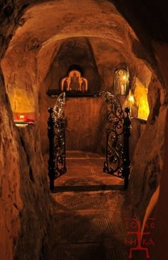 Zvirynets Caves in Kiev, Ukraine. The caves were the first place of worship in Russia so amazing