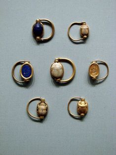Jewelry from the burials of the three foreign wives of King Thutmose III (ca. 1479–1425 B.C.).