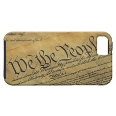Close view of the Declaration of Independence iPhone 5 Case
