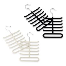 Real simple slimline tie hangers set of 2 black organize real simple slimline tie hangers set of 2 ccuart Image collections