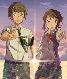 Mitsuha and Taki | Your Name.