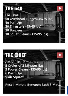The chief at 95/65. Was the first crossfit workout I ever did!! So excited to do it again!!