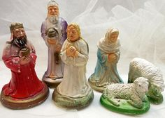 Christmas Nativity Chalkware Nativity Replacement Pieces 2