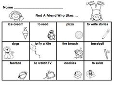 Find a Friend Activity