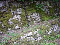 Sides of Imperial road still survive,actually used by Roman soldiers (Giotto1, Mar 2009)