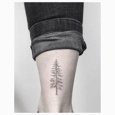 usual pine tree #jakubnowicztattoo #poznan #smalltattoo #design #minimal #tattoo