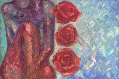 Ruchika Vaswani Art - Oil On Canvas   'Recherche'