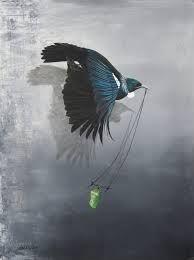 Jane Crisp - Acrylics on canvas Maori Words, Bird Artists, Polynesian Art, Words On Canvas, New Zealand Art, Nz Art, Maori Art, Kiwiana, Artist Painting