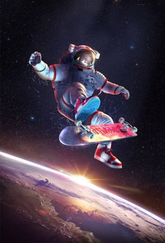SKU: ASTRO Astronaut Hang Time Space Poster