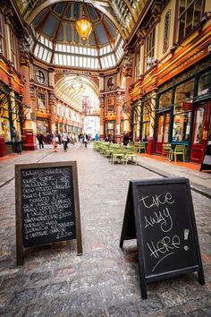 Leadenhall Market, London. A Victorian market that is wonderful for shopping. It was also used in the making of Harry Potter films.
