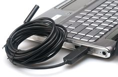 5 Meter Long IP66 USB Endoscope - 30FPS Video, High Resolution Photos, 3x Attachments