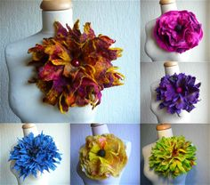 MADE TO ORDER felted wool flower,corsage pin brooch, handmade, lagenlook,handmade,shawl pin,yellow,pink,red,blue,green,orange,large