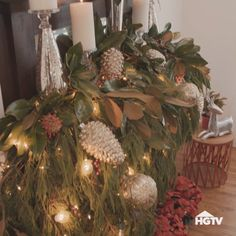 Give your home a cozy makeover with these rustic Christmas decorations without breaking the bank. There are indoor and outdoor DIY Christmas decor ideas Outside Christmas Decorations, Christmas Mantels, Christmas Diy, Christmas Wreaths, White Christmas, Fireplace Mantel Christmas Decorations, Christmas Decorating Ideas, Christmas Chandelier Decor, Vintage Christmas