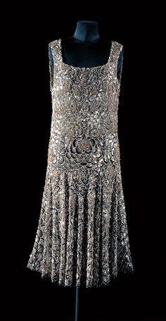 Evening dress by Chanel, c. 1925, at the Bunka Gakuen Costume Museum