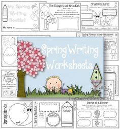 Spring Writing Worksheets, covers science, reading and writing 80 page printable. $