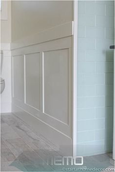Nov 6, 2019 - DIY Wainscoting for under $50! A lot of people really love the wai...#diy #lot #love #nov #people #wai #wainscoting Inexpensive Bathroom Remodel, Budget Bathroom Remodel, Restroom Remodel, Bathroom Makeovers, Bath Remodel, Condo Remodel, Wainscoting Styles, Wainscoting Bathroom, Master Bathroom