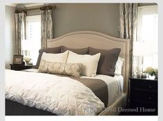 Curtain style & Bedding/colors I want to incorporate. Only instead of a lumbar pillow I want sequin pillows: