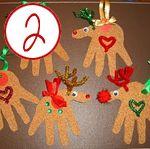 handprint reindeer ornaments