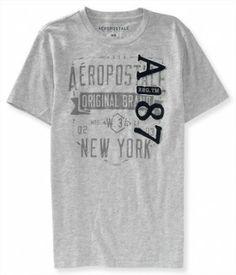 5c3914704 Camiseta Aeropostale Men s A87 Graphic T lt Hthr Grey  Camisetas   Aeropostale Camisetas Promocionais