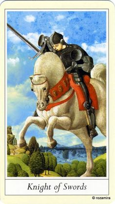 Knight - Lovers' Tarot by Jane Lyle and Oliver Burston