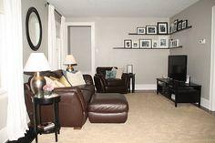 Corner shelves for living room