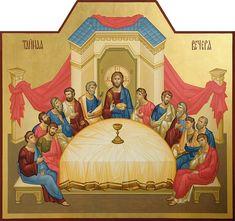 Last Supper Holy Thursday, Roman Church, Byzantine Icons, Last Supper, Holy Week, Religious Icons, Old Paintings, Orthodox Icons, Sacred Art