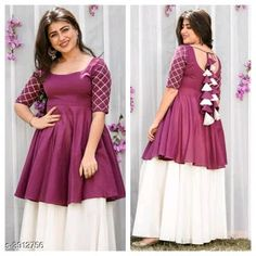 ❤️Elegant Magenta Zari Work Rayon 140 GMS Women Frock Sharara Set Size: L XL Within business days Free and Easy return-No question asked Stylish Dresses For Girls, Stylish Dress Designs, Designs For Dresses, Girls Dresses Sewing, Indian Fashion Dresses, Dress Indian Style, Indian Designer Outfits, Indian Gowns, Simple Kurti Designs