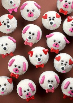 Puppy Love Mini Cupcakes by Bakerella, via Flickr // Ahhh these are SOOOO cute!