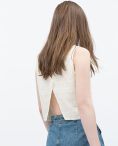 EMBROIDERED TOP-Tops-TRF   ZARA Singapore