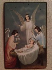 Antique Gloria in Excelsis Deo Religious Postcard - Angels w Baby Jesus