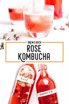 How to make a delightfully floral rose kombucha! With just dried rosebuds and a few cherries (or sugar), your kombucha is transformed into a delicate rose flavored kombucha that you're going to love! Green Tea Kombucha, How To Brew Kombucha, Kombucha Brewing, Brewing Beer, Kombucha Flavors, Kombucha Recipe, Best Non Alcoholic Drinks, Pumpkin Spice Coffee, Coffee Recipes
