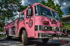 Meet GiGi, Pink Heals truck from the Savannah, Georgia Chapter. Savannah Georgia, Savannah Chat, Pink Truck, Pink Parties, Fire Dept, Fire Engine, Fire Trucks, Cancer Awareness, Firefighter