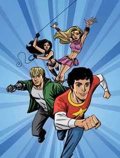 'Atomic County' - Graphic novel based on Seth Cohen's drawings created by Eric Wight & John Stephens (based on the characters created by Josh Schwartz). The Ironist, Little Miss Vixen, Kid Chino and Cosmo Girl are based on The O.C. characters: Seth Cohen, Summer Roberts, Ryan Atwood and Marissa Cooper.